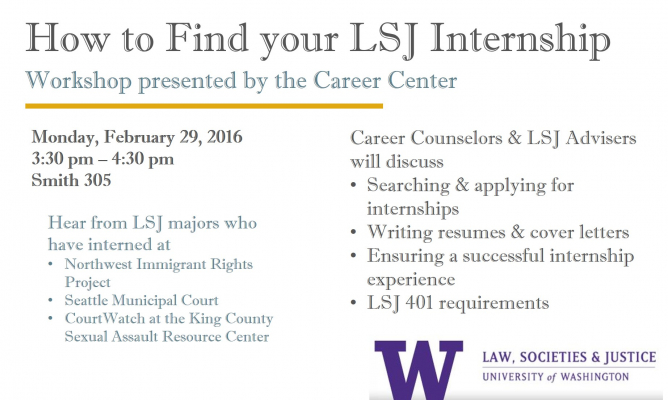 How To Find Your LSJ Internship Workshop Law Societies Justice