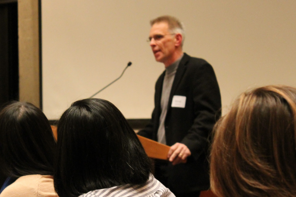LSJ Director Steve Herbert spoke at the alumni mixer held to honor Timothy Richard Wettack