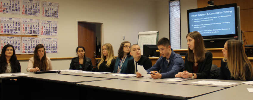 LSJ Group Honors Presents Research on Juvenile Diversion