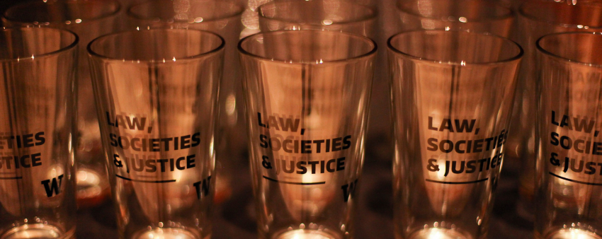 Law, Societies, and Justice pint glasses for the celebration