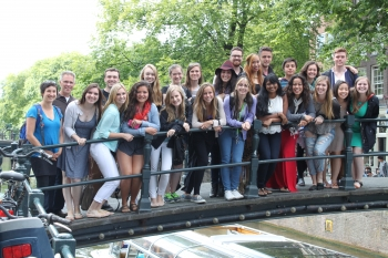 Amsterdam study abroad group 2014