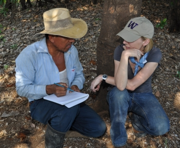 Professor Angelina Godoy Doing Fieldwork in Guatemala
