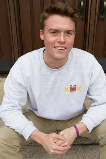 Photo of Bryce Ellis, a graduating senior double-majoring in LSJ and Communication