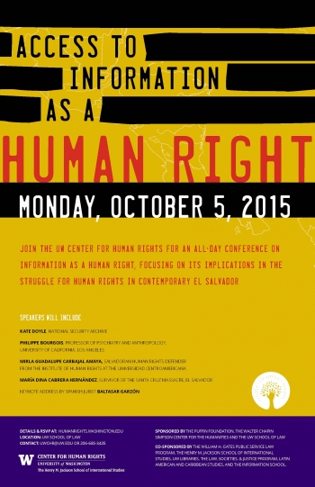 Center for Human Rights Conference Poster