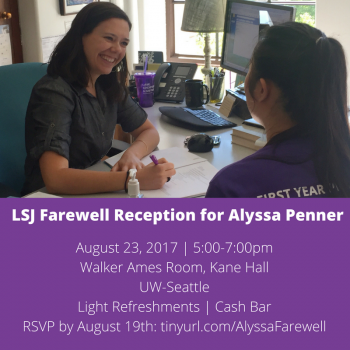 Farewell Reception for Alyssa Penner
