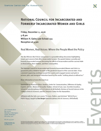 Incarcerated Voices Event Flyer