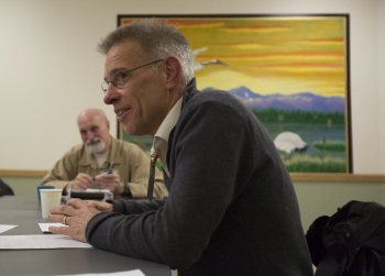 LSJ Professor Steve Herbert teaching class at the Monroe Correctional Complex in 2015.