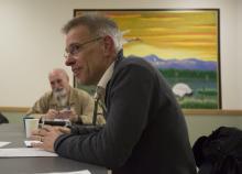 LSJ Professor Steve Herbert teaching class at the Monroe Correctional Complex in 2015.