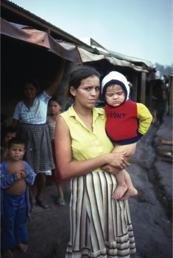 DINA CABRERA: Here she is pictured shortly after the massacre she survived in El Salvador in the 1980s. PHILIPPE BOURGOIS