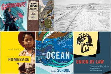 Collage of anti-racist books