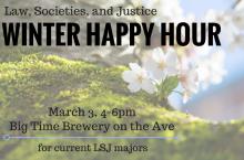 Winter LSJ Majors Happy Hour Informational Flyer