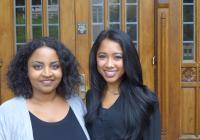 Husky 100 Award Winners and LSJ Majors Meron Fikru (left) and Starla Sampaco (right)