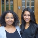 Husky 100 Award Winners and LSJ Majors Meron Fikru (left) and Starla Sampaco (right)